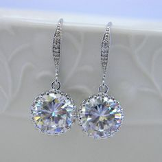 Wedding Jewelry Bridal Earrings Bridesmaid by Greenperidot on Etsy