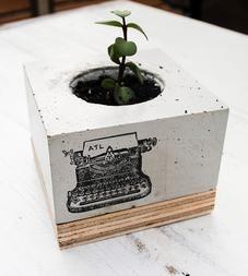 paisajismo jardineras de hormign hormign bricolaje diseo de hormign decoracin industrial estilo industrial jardn bricolaje mquinas de escribir