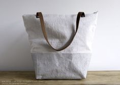 New Year's SaleSilver & Natural Tote by threadandpapershop on Etsy, $68.00
