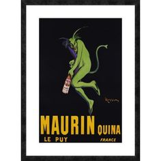 "Global Gallery 'Maurin Quina, ca. 1906' by Leonetto Cappiello Framed Graphic Art Size: 38"" H x 28"" W x 1.5"" D"