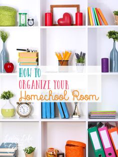Prepare your home for the a great year of homeschooling with tips on how to organize your homeschool room