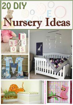 20 Beautiful DIY Nursery Ideas via @2creatememories