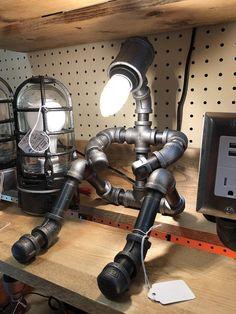 Industrial Lamp Pipe Man Lampman light Mr Lamp