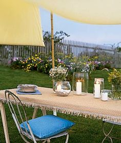 When the weather warms and your parties move outdoors, try these simple ideas.