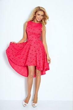 Elegantné malinové šaty Lacosta