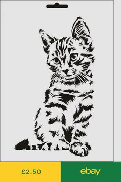 - Wallstencil Stencil T-Shirt Cat Umr Design & Garden Wood Burning Stencils, Wood Burning Art, Animal Stencil, Stencil Painting, Arte Banksy, Animal Line Drawings, Wood Carving Patterns, Free Stencils, Forest Art