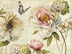 Marche de Fleur IV Print by Lisa Audit at AllPosters.com  My inspiration piece for my Master  bedroom!!
