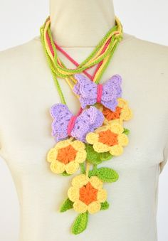 Spring Flower lariat jennysunny@etsy