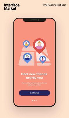 App Ui Design, Mobile App Design, Onboarding App, Zentangle, Simple App, Simple Mobile, App Promotion, App Design Inspiration, Ui Kit