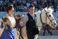 The 1st May every year in the city of Arles takes place the « Fête des Gardians », a meeting of the Camargue Cowboys. It?s a magic event for us to watch the parade of white horses, Arlesiennes (Arles women wearing their traditional dress) and the guardians through the roman city of Arles. #Arles