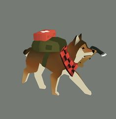A dog ready for the end of the world from Overland http://overland-game.com/