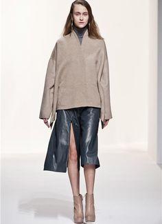 Leather skirt...