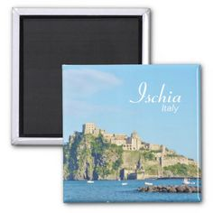 Shop Ischia, Castello Aragonese - Magnet created by stdjura. Souvenirs From Italy, Mediterranean Sea, Naples, Magnets, Europe, Island, Photography, Block Island, Photograph