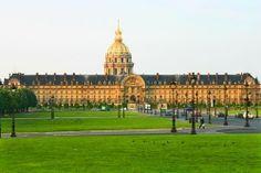 18th century Ecole Militaire; Les Invalides gardens, Paris