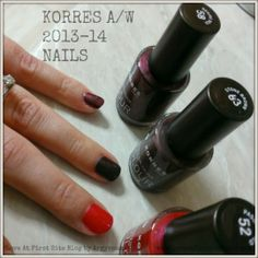 KORRES NAILS  Swatched: DESIRE RED 58 / STONE BROWN 63 / PASSION RED 52