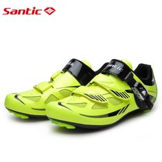 84.09$  Buy here - Santic Road Cycling Shoes Green Bicycle Shoes Nylon sole Road Shoes Cycling zapatillas ciclismo  S12019Y  #SHOPPING