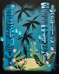 Tiki Art, Tiki Tiki, Santa Ines, Tiki Hawaii, Tiki Decor, Tiki Lounge, Vintage Tiki, Hawaiian Art, Tiki Room