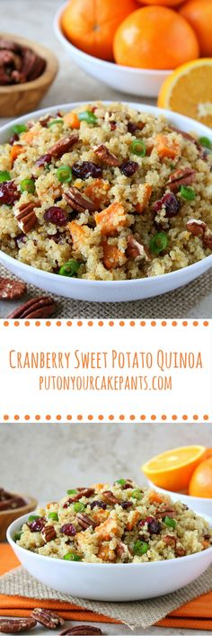 This cranberry sweet potato quinoa is as flavorful as it is colorful! (vegan, gluten-free)