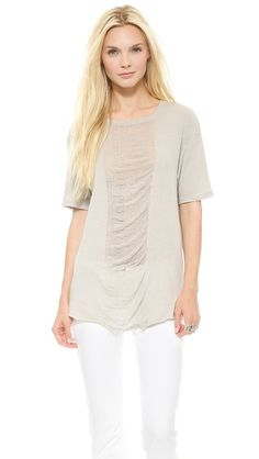 This easy-breezy tee is the prettiest neutral color // Raquel Allegra Men's Tee in Putty