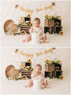 First Birthday Theme Girl, Kids Birthday Themes, 1st Birthday Photos, 1st Birthday Parties, Baby Birthday, Baby Cake Smash, Birthday Cake Smash, Cake Smash Photos, Birthdays