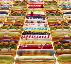 "Can you believe these are french eclairs? ""Rich pralines, vivid petit fours, wispy French meringues, and deep pastry creams piped into light éclairs, then coated with iconic works of art. Only at Fauchon. And now, happily, no matter where you are, you can capture a year's worth of this hyper-luxe French foodie haven's sweet and savory delights right on your coffee table. """