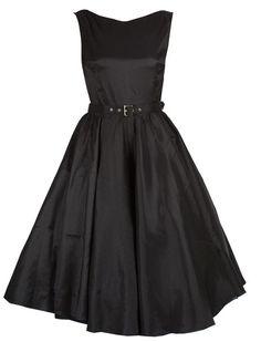 Retro Satin Kleid - Rockabilly Clothing - Online Shop für Rockabillies und Rockabellas