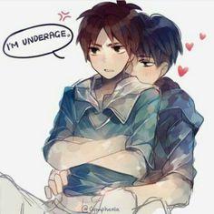 Rivaille ( Levi ) x Eren || Attack on Titan || Levi is hugging Eren