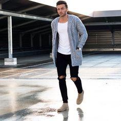 mode homme automne hiver 2017 2018 tenue confortable cardigan