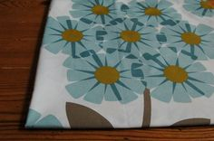 *New* Orla Kiely Rhododendron Fabric in Soft Cerulian FQ 50cm x 50cm