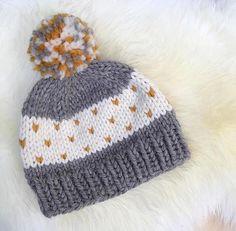 KNITTING PATTERN beginner knitting pattern hat knitting