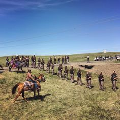 Riders from the Standing Rock, Rosebud, and Lower Brule Lakota reservations came together on horseback to push back a police line that had formed between a group of protesters and the entrance to the Dakota Access Pipeline construction site. Daniella Zalcman, August 2016.