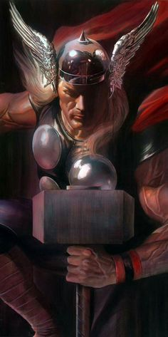 Alex ross thor – alex ross thor – alex ross thor – alex ross thor – alex ross a… - Geek World Odin Marvel, Marvel Comics, Marvel Art, Marvel Heroes, Epic Heroes, Ms Marvel, Captain Marvel, Captain America, Comic Book Characters
