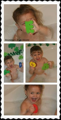 Lots of bath time fun learning activities! Love it!