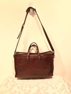 dd2f27dda41d Coach Briefcase Mahogany Brown Leather by VintagePursesPlus Coach  Briefcase