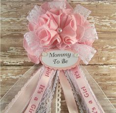find this pin and more on my style pink and lace mommy to be corsage baby shower by