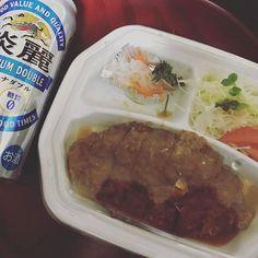 今日は久しぶりに「みそカツ」😁 ニク(・∀・) #オリオン #大好き #favorite #レストラン #restaurant #美味しい #delicious #オススメ #みそカツ #カツ #meat #肉 #ポーク #豚肉 #pork #ご飯 #晩ご飯 #お持ち帰り #テイクアウト #takeout #togo #発泡酒 #beer #lowmaltbeerlikebeverage #淡麗 #キリン #KIRIN