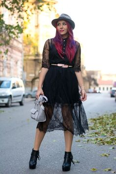 Black Lace Dress Outfit