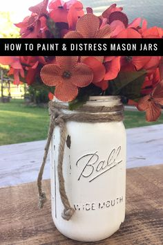 ideas easy art projects for teens paint mason jars Pot Mason, Ball Mason Jars, Mason Jar Crafts, Mason Jar Diy, Diy Projects Mason Jars, Bottle Crafts, Deck The Halls, Gay Pride, Pots