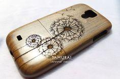 samsung galaxy s4 case - wood galaxy s4 case - dandelion walnut galaxy s4 case