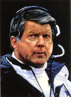 Dallas Cowboys coach Jimmy Johnson (1989 to 1993) by Chris Hopkins.