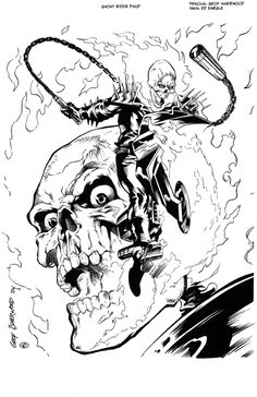 Ghost Rider by Geof Isherwood