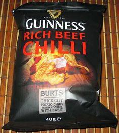Foodstuff Finds: Burt's Guinness Rich Beef Chilli Crisps (@Burts Potato Chips) [By @Cindy Poole]