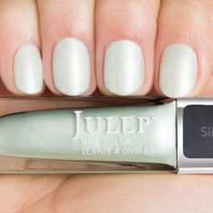 Style your nails with a pale minty green silk nail polish with Oxygen Technology by Julep. Shannon is the perfect mint green nail polish for your at-home manicure or pedicure. Mint Green Nail Polish, Julep Nail Polish, Round Nails, Oval Nails, Silk Nails, Makeup For Sale, Red Carpet Manicure, Nail Care Tips, Manicure At Home