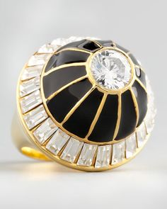 Domed Crystal Ring by Rachel Zoe at Neiman Marcus.