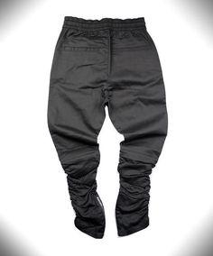 brand new style side zipper men slim fit casual men's hip hop jogger biker pants swag
