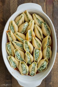 This Ricotta Stuffed Shells recipe is creamy, comforting, easy to make ahead and freezer friendly! Perfect for freezer meal prep and busy weeknights. pasta shells Ricotta Stuffed Shells Recipe {step by step VIDEO} - The Recipe Rebel Spinach Stuffed Shells, Chicken Stuffed Shells, Stuffed Shells Recipe, Spinach And Ricotta Pasta, Jumbo Shells Stuffed, Zucchini Pasta, Jumbo Shell Recipes, Freezer Meals, Easy Meals