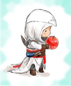 Altair with an apple