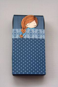 "Matchbox ""sleeping bag""  Cutest sleepover invite and favor box EVER!"
