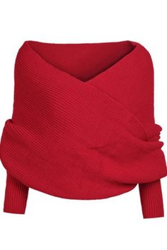Classic Solid Color Wrap Batwing Sleeve Shawl - OASAP.com