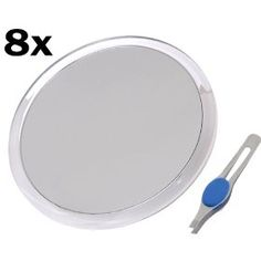 DB-Tech Large 10` Suction Cup 8X Magnifying Mirror with Precision Tweezers $14.99
